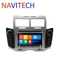 נגן DVD לרכב לטויוטה יאריס 2005 2006 2007 2008 2009 2010 2011 מערכת ניווט GPS Bluetooth Ipod כסף