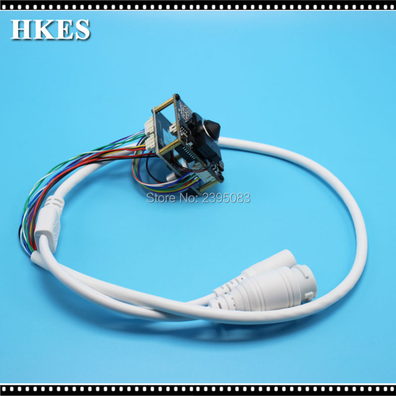 HKES 4pcs/lot HD 1280*720P POE IP Cam Indoor CCTV Camera module wide angle 3.7mm lens