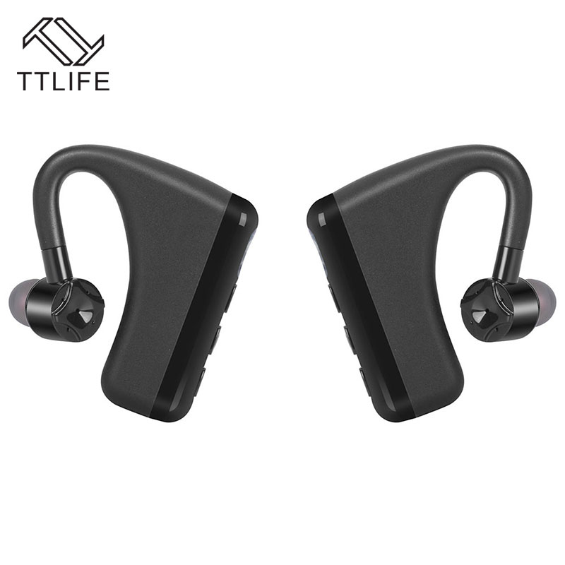 TTLIFE LR2 True Wireless Earbuds Bluetooth V4.1 Sweatproof Stereo Music Sport Earphone Ear Hook Style Headphone with Mic v sport ft209 2