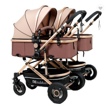 3-en-1 léger Cool landau 4 roues pliable enfants jumeau nouveau-né bébé poussette poupée Double poussette