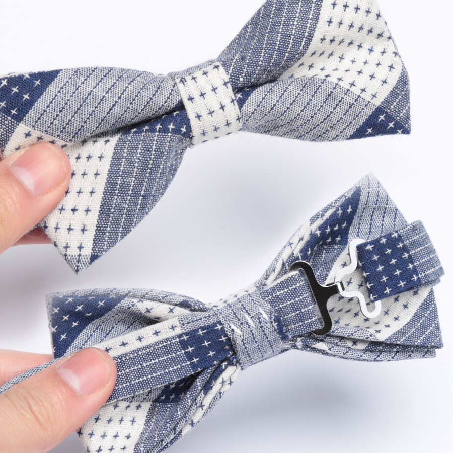 New Men Bow Tie Fashion Cotton Stripe Bowtie Wedding Party Ties for Men Butterfly Necktie Man Dress Shirt Gift Male Accessories in Men 39 s Ties amp Handkerchiefs from Apparel Accessories
