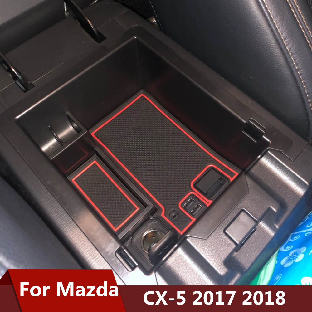 Car Central Armrest Storage Box For <font><b>Mazda</b></font> <font><b>CX</b></font>-<font><b>5</b></font> CX5 <font><b>CX</b></font> <font><b>5</b></font> 2017 <font><b>2018</b></font> <font><b>Accessories</b></font> Console Arm Rest Tray Organizer Holder Case Pallet image