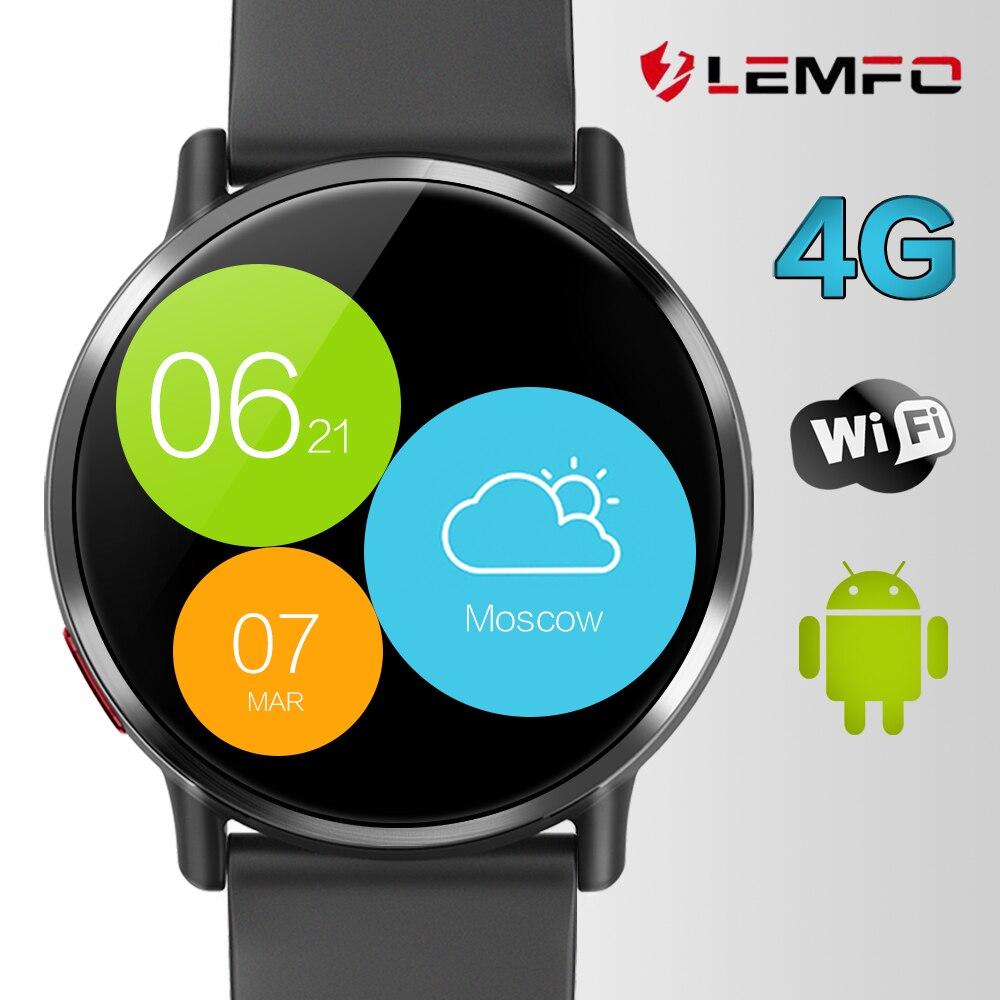 LEM X 4G montre intelligente Android 7.1 prise en charge GPS Sim WIFI 2.03 pouces écran 8MP caméra fréquence cardiaque LEMFO LEMX Smartwatch pour hommes