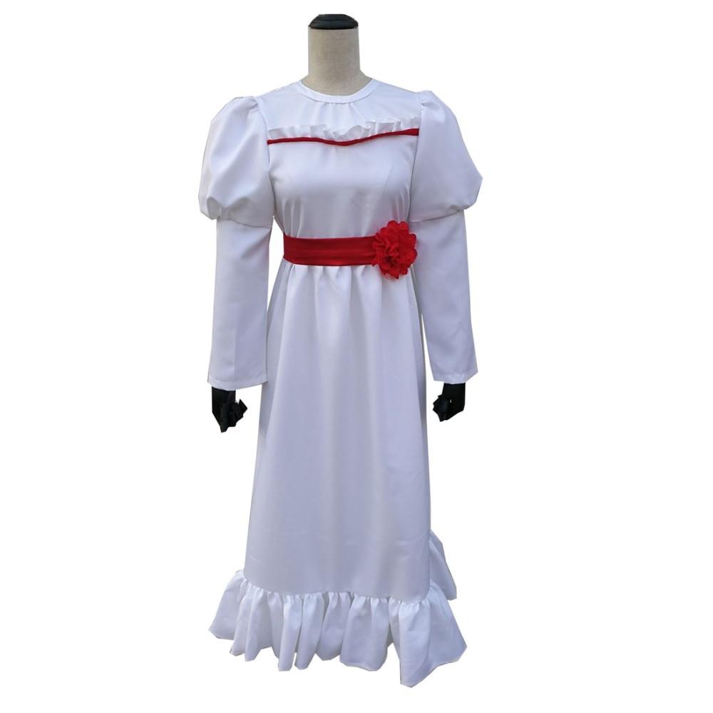 2019 horror film Annabelle Comes Home Cosplay Girl Costume Dress Halloween Skirt