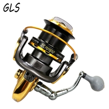 2017 New 13 Bearing size 8000 9000 1000011000 Distant Wheel large fishing wheel Gapless metal spinning wheel Fishing reel