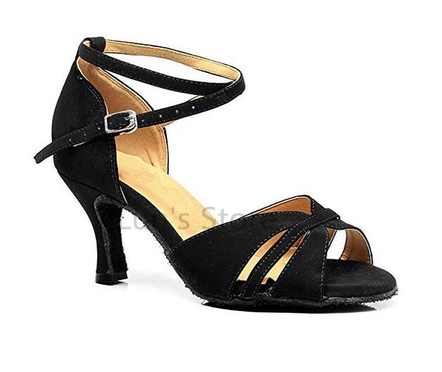 New Free Shipping Black Suede Open Toe Dance Shoe Ballroom Salsa Latin Tango Bachata Dancing Dance Shoes ALL Size
