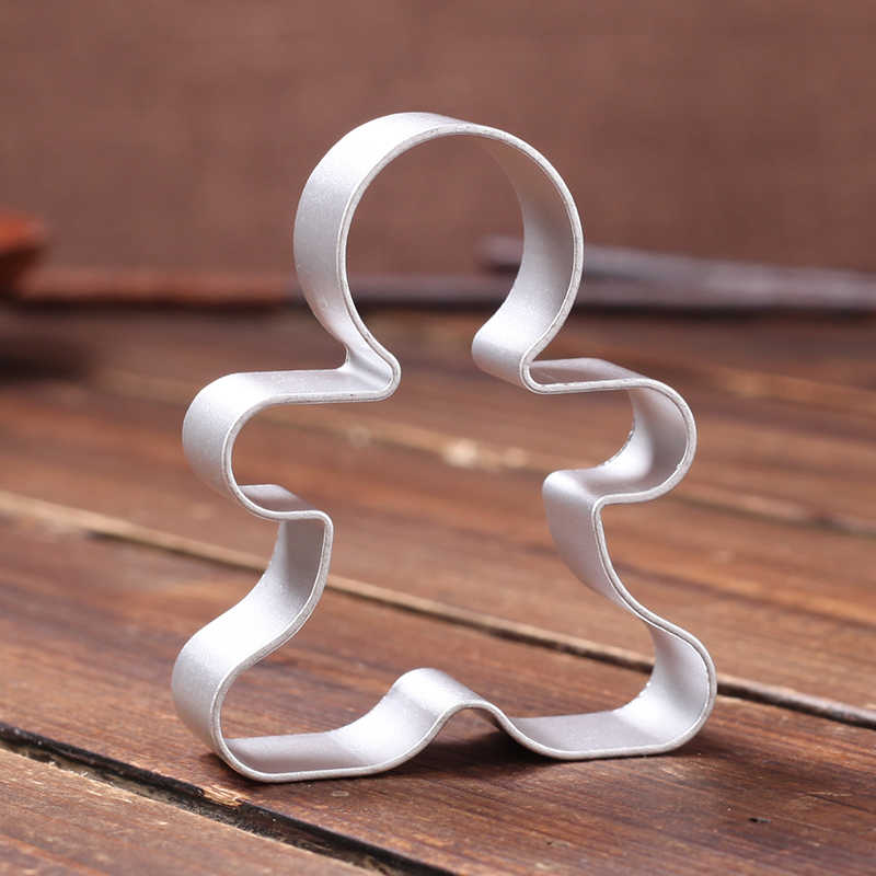 Christmas Cookie Cutter Tools, Aluminium Alloy Gingerbread Men Shaped Holiday Biscuit Mold Kitchen cake Decorating Tools