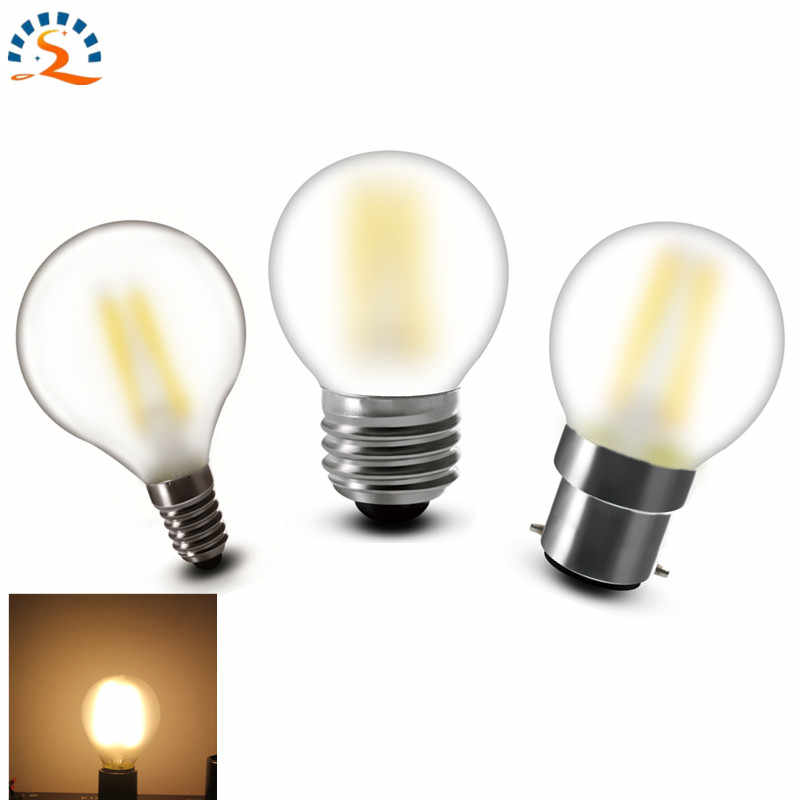 10pcs G45 E12 E14 E26 E27 B22 Frosted LED Filament Bulb lamp light 2w 4w Dimmable warm white 120V 220v 230v 240v CE RoHs