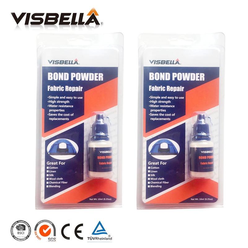Visbella 2pcs Fabric Repair Bond Powder Pants Denim Bonding Repair Hand Tool Sets Glue Waterproof Sealers For Clothing Curtains
