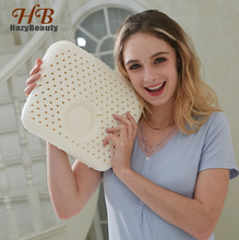 Boussac Child 30x25cm Natural Latex Pillow Sleeping Bedding Cervical Massage Pillow Health Neck Bonded Head Care Bamboo Pillow