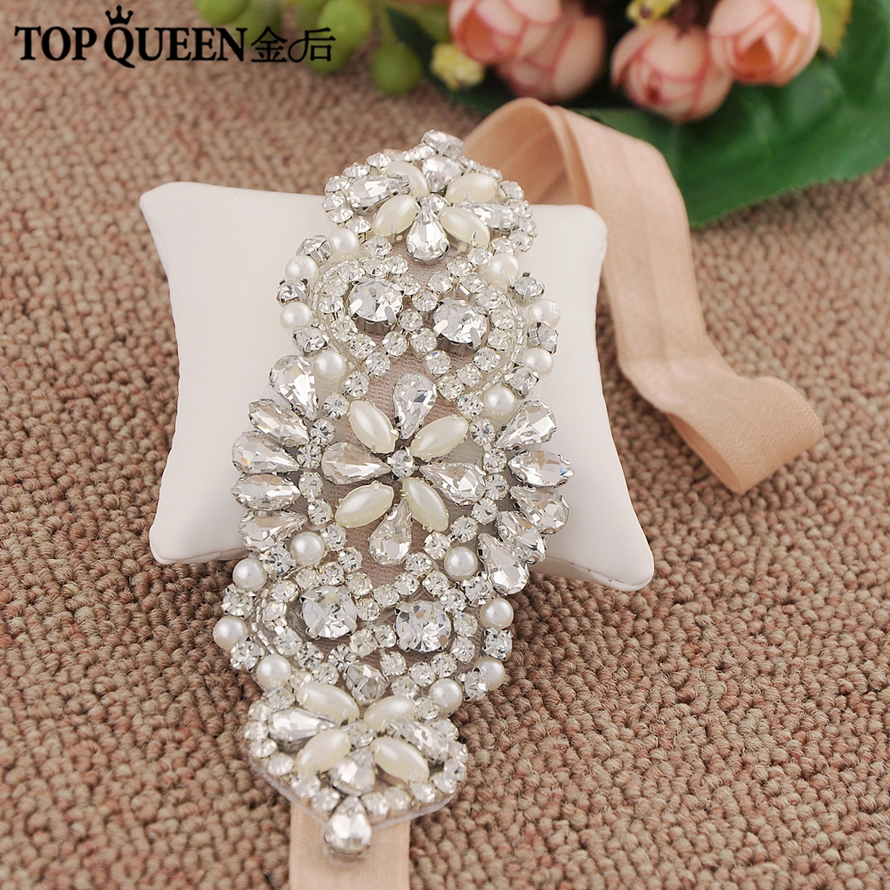 TOPQUEEN SJD S76 Bridal Sash with Pearls Rhinestones Wedding Accessories Wedding  Belts Sashes Bridal Elastic Belt-in Bridal Blets from Weddings   Events on  ... 3b21ab4dbe5d