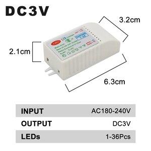 Image 2 - 1 80pcs Led Electronic Transformer 220V To DC3V Low Voltage LED Controller Power Supply LED Driver 15mA For Light Emitting Diode