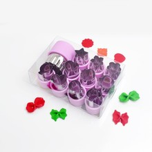 12Pc/Lot All Lids Fruit Vegetable Slicer Cutters Kitchen Cooking Tools Cute Funny Mini Biscuit Cookie Set for Child