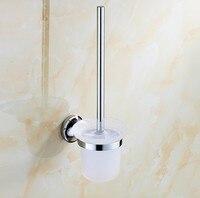 Modern Chrome Finish Bathroom Accessories Fashion DesignToilet Brush Holder WC Brush Set Household Products Bath Decoration