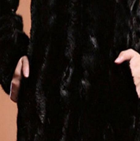 Col Pour Vison Fourrure Faux Manteaux Vêtements À D'extérieur Des Veste 2019 6xl Femmes Renard Top Z216 Hiver Capuche Taille Grande De Automne Manteau 1J3TFKcl