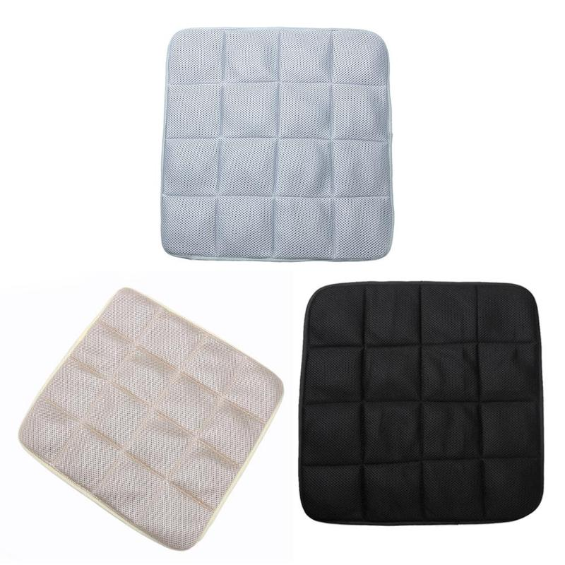 44*44cm Bamboo Charcoal Car Seat Protector Mat Cover Pad for Office Chair Cushion Vehicles Auto Seat Covers Non-slip Accessories