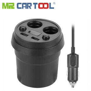 Mr Cartool Power Adapter with 2 Socket Car Styling Cigarette Lighter