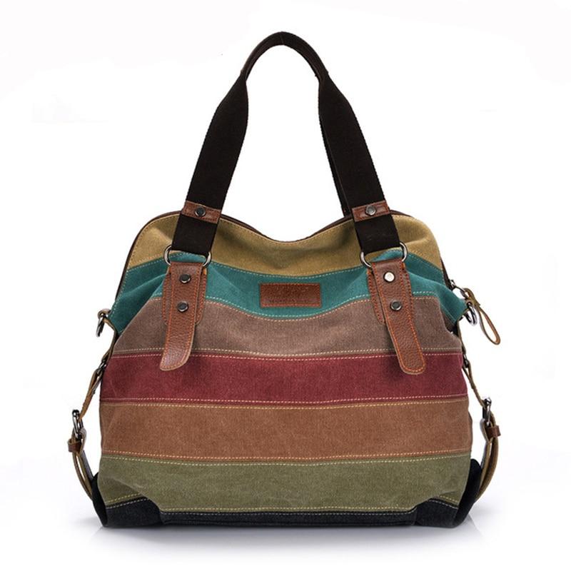 Canvas Bag Fashion Canvas Shoulder Bag Women Handbags Ladies Hand Bags Tote Casual Crossbody Bolsos Mujer Hobos Bolsas Feminina-in Shoulder Bags from Luggage & Bags