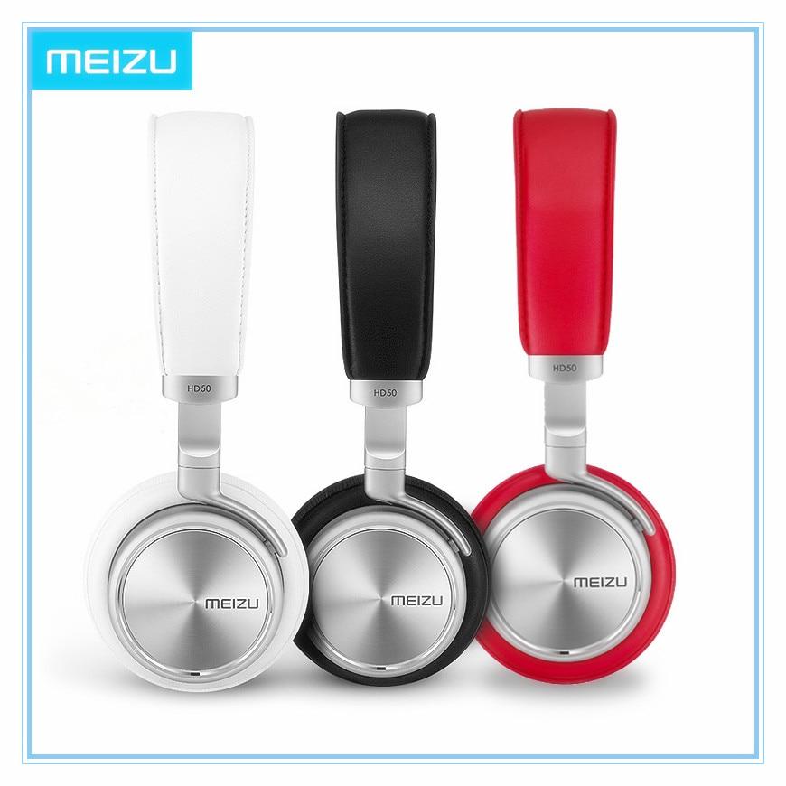 ФОТО Original Meizu HD50 HIFI Stereo Bass Music Headset Aluminium Alloy Shell Low Distortion Headphone with Mic for iPhone Samsung LG