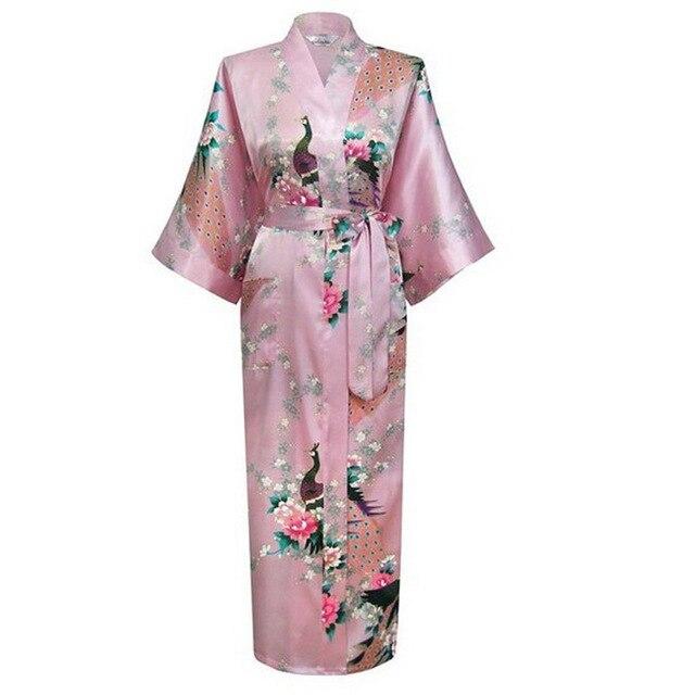 c717670a19f3 Пикантные китайское кимоно халат Свадебные невесты Ночная Халаты Lounge  пижамы халат Для ванной плюс Размеры размеры