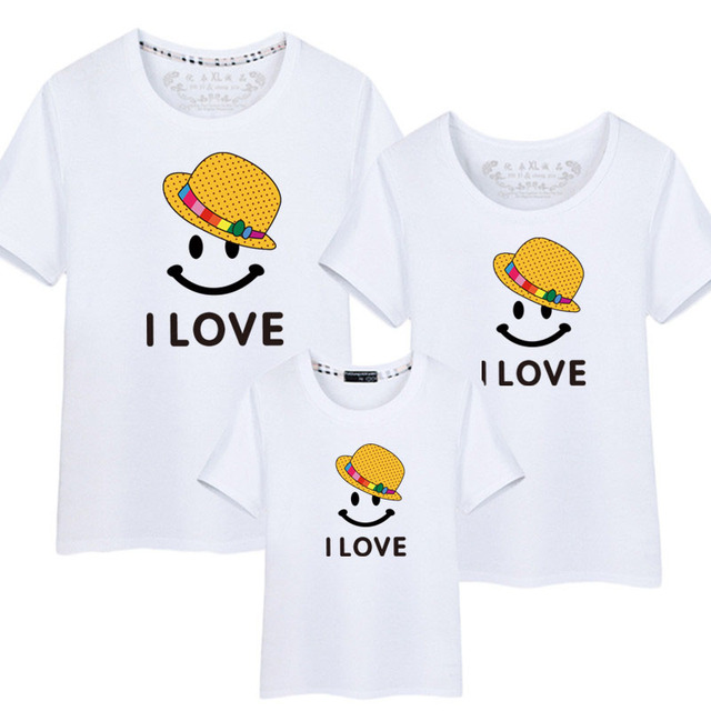 Family Matching Clothing Summer Mother and Daughter Clothes Family Look T-shirt Mother Son Outfits Cotton Dad Son Clothes