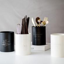 Nordic Stainless Steel Jars Creative Chopsticks Drain Bottles Kitchen Multi-function Durable Tableware Spoon Desktop Organizer