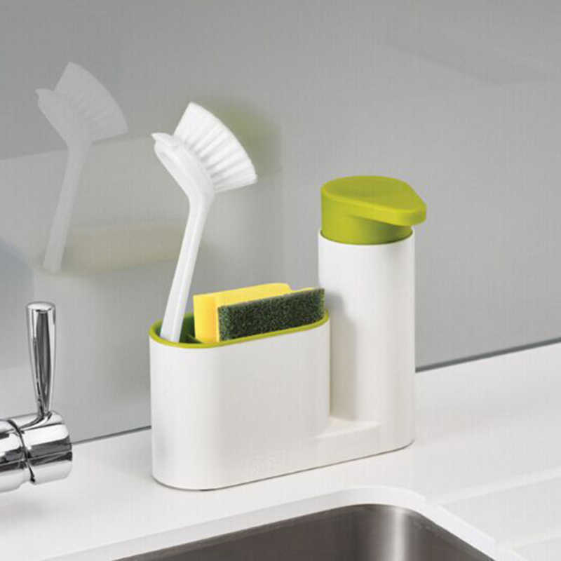 2 in 1 Multifunctional Washing Sponge Storage Shelf  Kitchen Bathroom Sink Detergent Soap Dispenser Storage Rack Stands FY0018