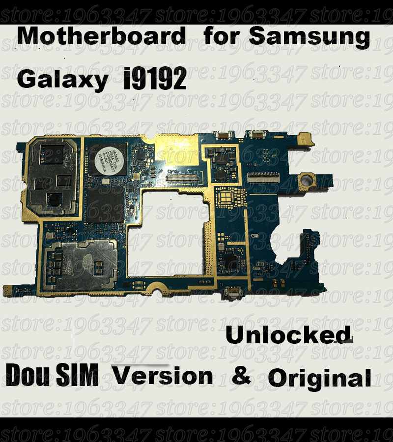 Original Unlocked For Samsung galaxy S4 mini i9192 motherboard DOU SIM 100 working mainboard with software
