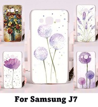 Flexible Plastic and Silicon Cell Phone Covers For Samsung Galaxy J7 2015 J700 Cases Watercolor Floral Flowers Phone Skins