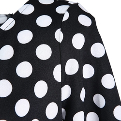 ROPALIA Summer Polka Dot Vintage Dress Elegant Women Short Sleeve Work Office Casual Party A Lin Dresses Vestido T7 6