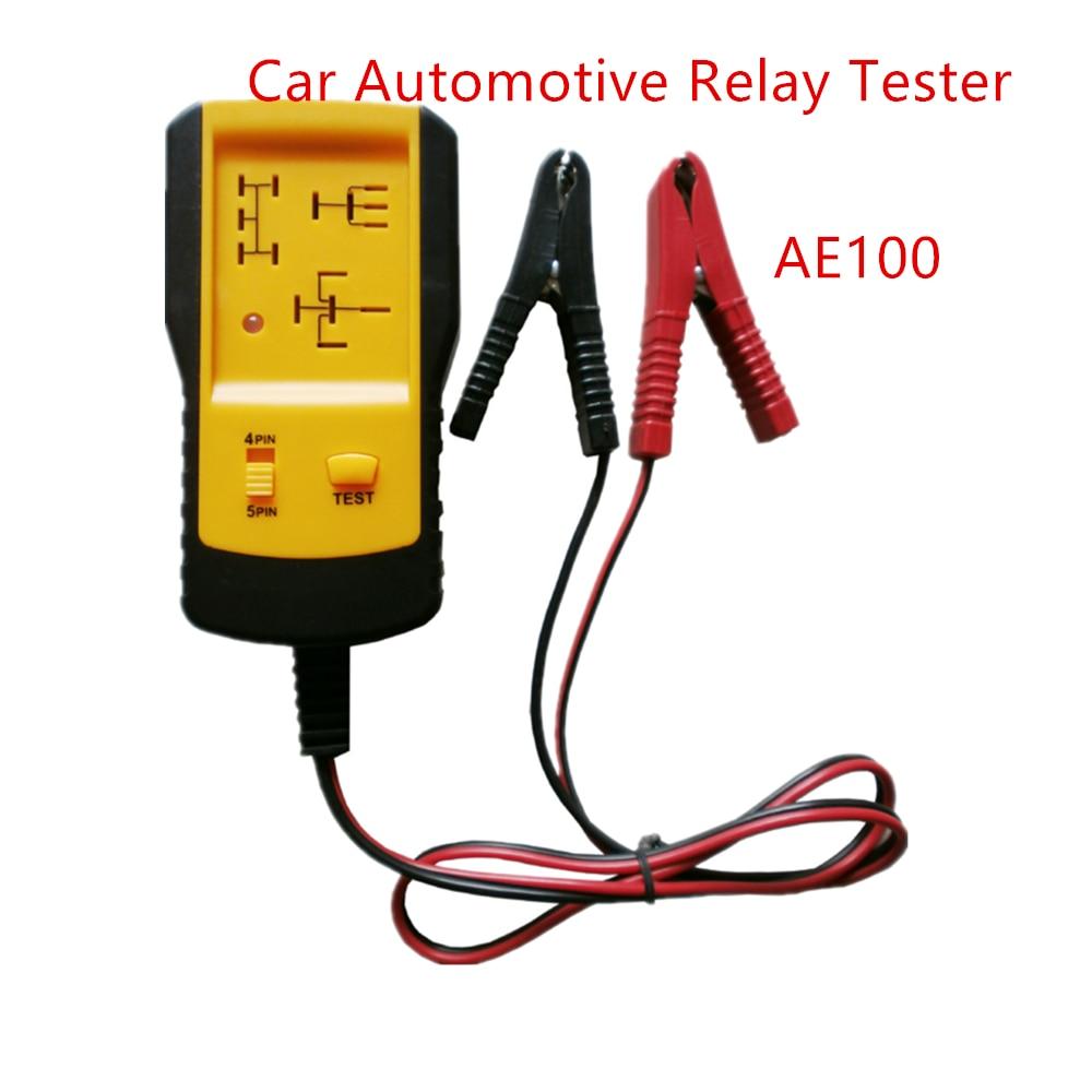 Narzędzie diagnostyczne samochodów AE100 przekaźnik samochodowy tester do samochodów 12 V, tester wykorzystuje zasilania 12 V z akumulatora samochodowego. Nie ma baterii