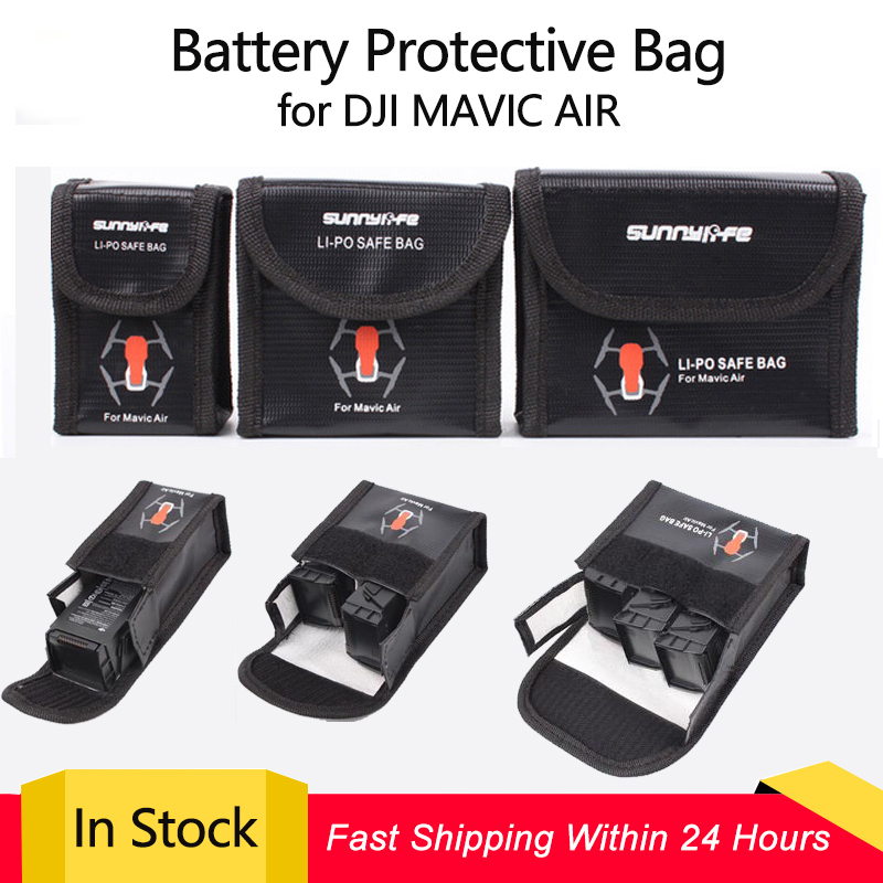 LiPo Safe Bag Battery Protective Bag Explosion-proof Storage Bag For DJI MAVIC AIR Battery Accessories