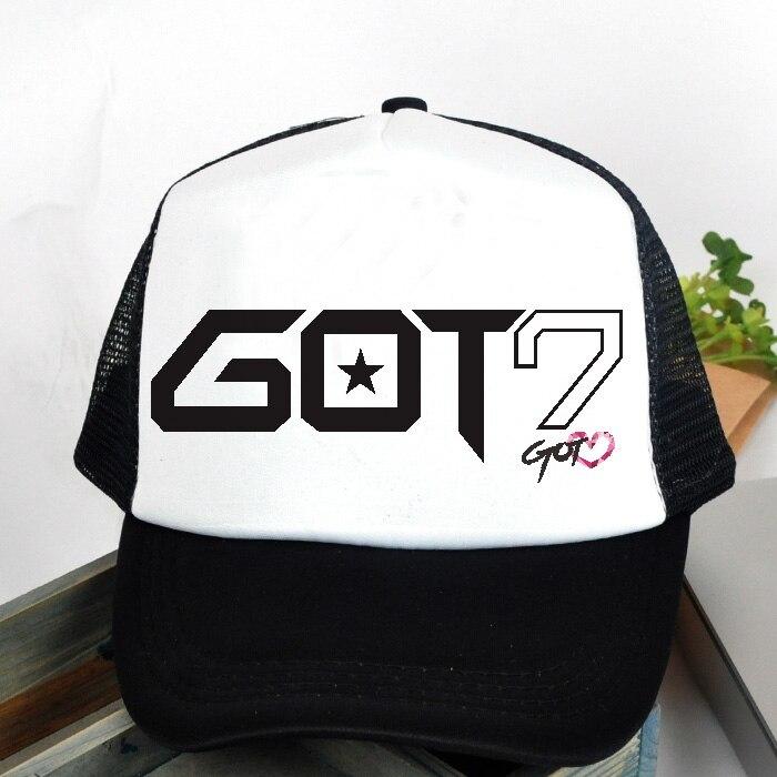 KPOP Hat For GOT7 JJ Project 7 sj Women k-pop got Cap For Men Design Classic Black Baseball Cap Hip-hop Team 2020 Fashion