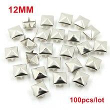 6-12 мм квадратные Шипы Заклепки для одежды четыре когти металлические шпильки и шипы для одежды 100 шт./лот