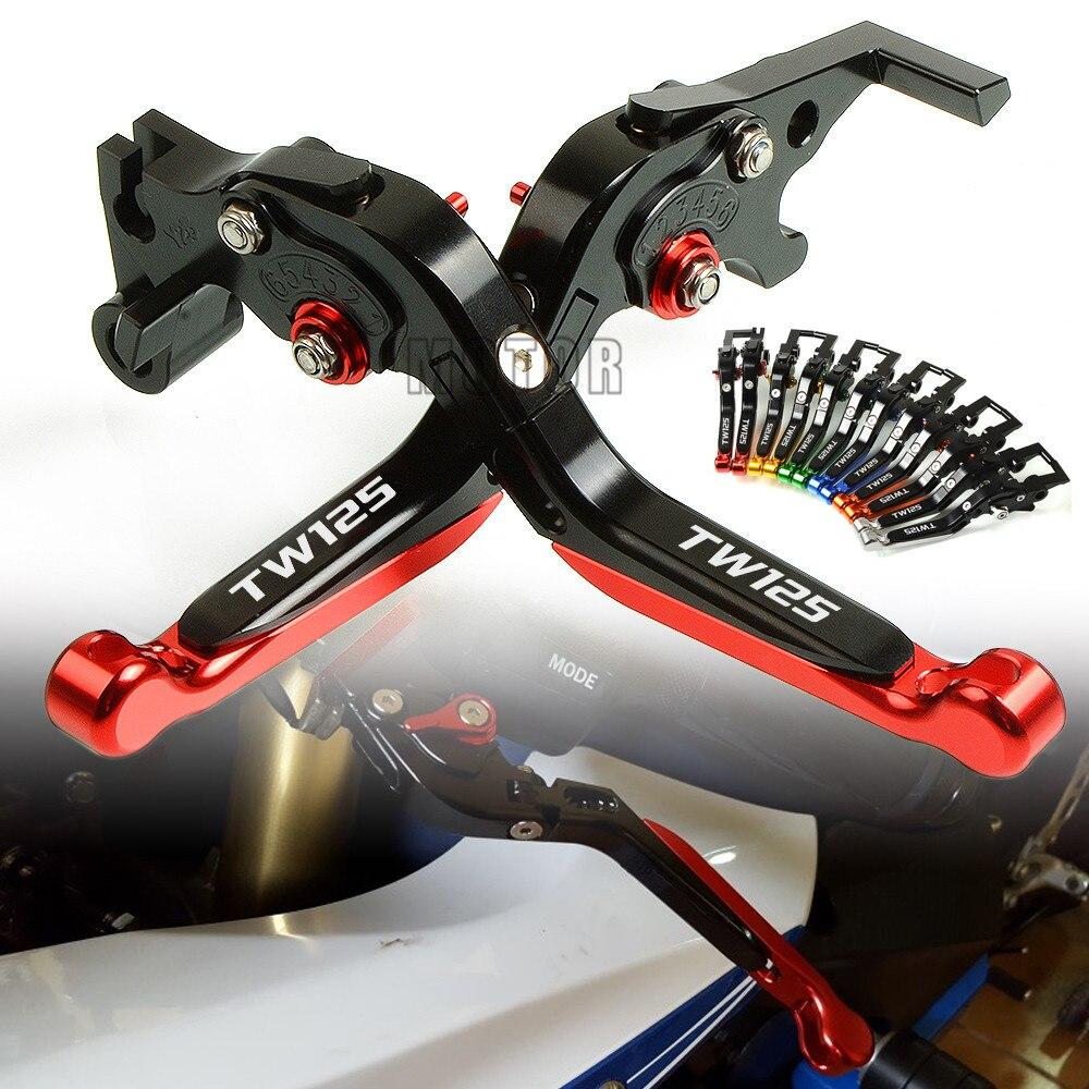 Pour Yamaha TW125 TW 125 1999-2004 2000 2001 2002 2003 moto CNC en aluminium frein embrayage leviers réglable pliable extensible