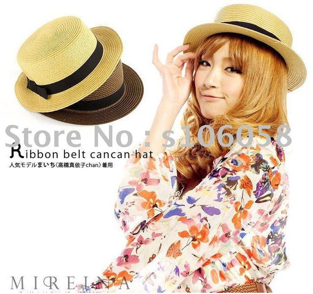 Fashionhat ,fedora hats,fedora straw hats MOQ:5pcs(total 2 mix colors) summer hats promotions FAST HOME DELIVERY .
