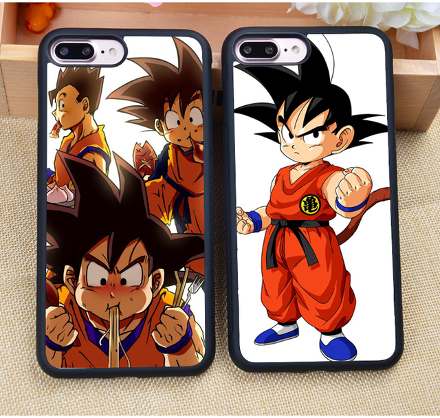 Cartoon Dragon Ball Kid Goku Printed Soft Rubber Skin Cell Phone Cases For iPhone 6 6S Plus 7 7 Plus 5 5S 5C SE 4S Cover Shell