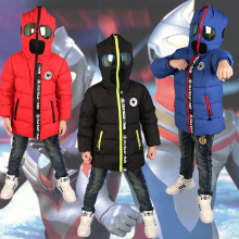 2016 New children Down Parkas 3 10T winter kids outerwear boys casual warm boys hoodded jacket