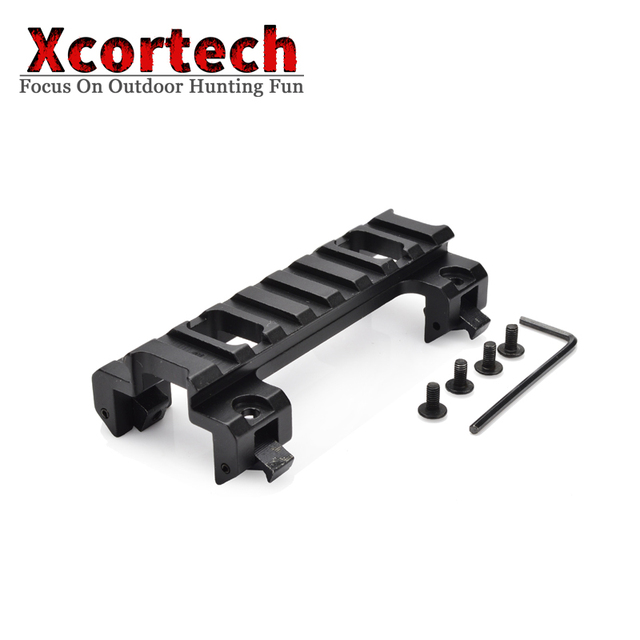 Tactical 8 Slots 20mm Picatinny Weaver Scope Rail Mount Base Claw For MP5 GSG5 G3 Series Airsoft Accessories Rifle For Hunting