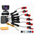 GreenYi Car Detector Reversing Radar LCD Display Parktronic Parking Sensor System with 6PCS 16MM Flat Sensors