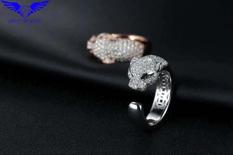 14 К белый муассанит кольцо с бриллиантом/модные мужские кольца