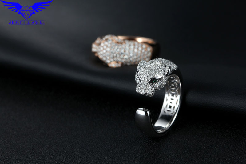 14 K Branco Moissanite Anel de Diamante/Anel Dos Homens Da Forma