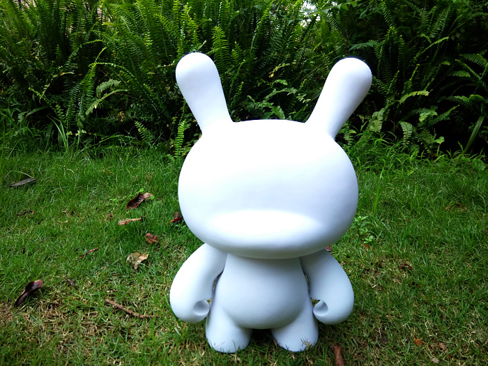 ФОТО 13inch Blank White Kidrobot Dunny Toys Unpaited Momo Rabbit DIY Doll Action Figurine Aqua Doodle Gift Watercolor Drawing For Kid