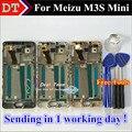 """Alta qualidade new display lcd + assembléia tela de toque digitador para meizu m3s mini meilan 3 s celular 5.0 """"preto Branco Com Moldura"""