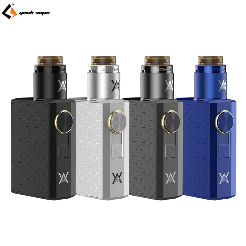 100% Original Geekvape Athena Squonk Kit Powered by Single 18650 Cell with 6.5ml Juice Bottle