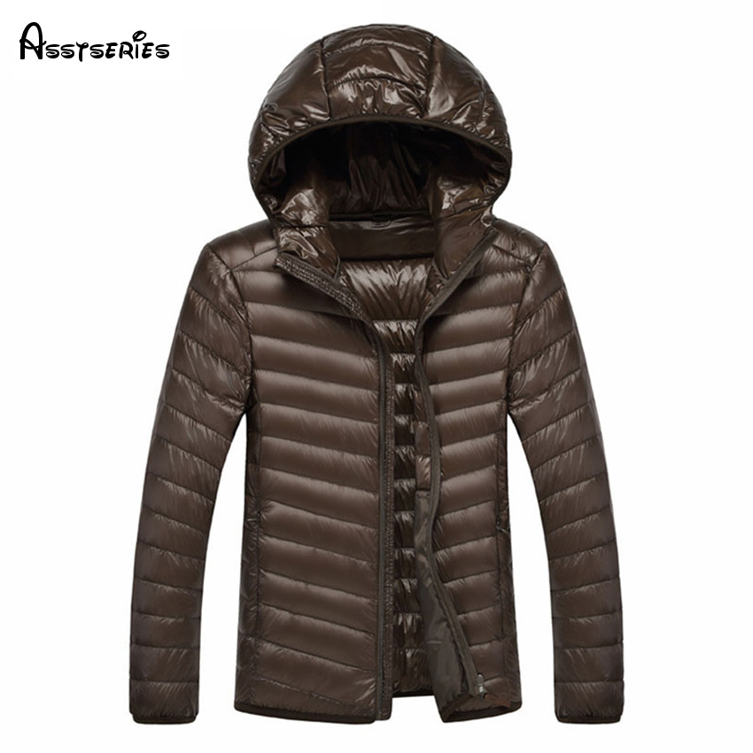 Large Size M-7XL Mens Outwear Casusl Short Down Jacket Mens Fashion Hooded Down Jacket Autumn and Winter Warm Coat WN 120