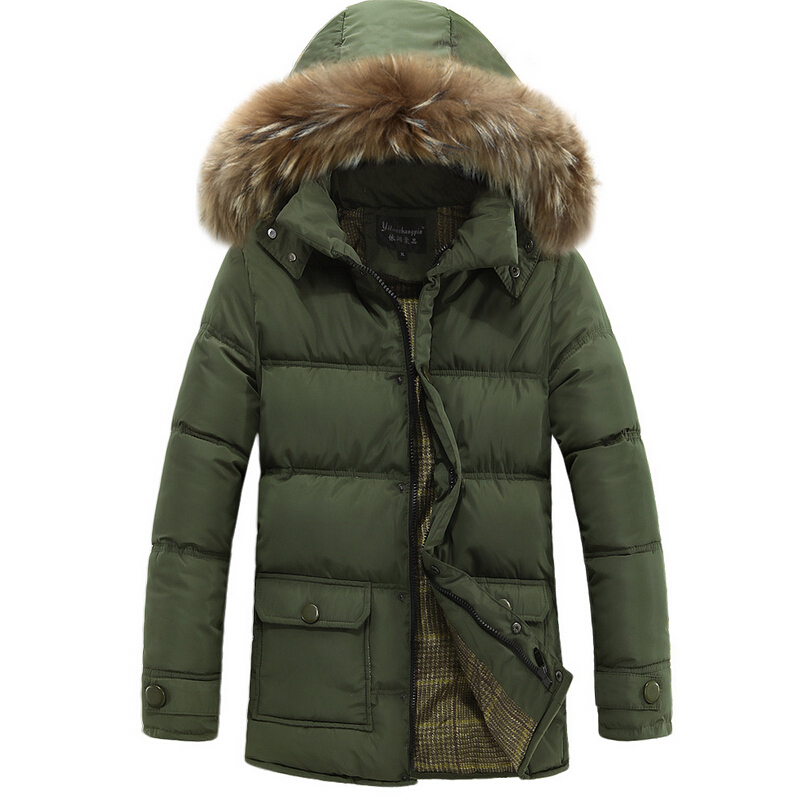 ФОТО Free Shipping The New Winter 2017 Men's Wear Brand in The High-end Men's Fashion Leisure Long Men Down Cotton-Padded Jacket Coat