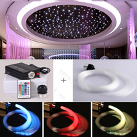 RF 16w kit fiber optic starry star sky ceiling light decoration 400 piece 3meter 0.75mm