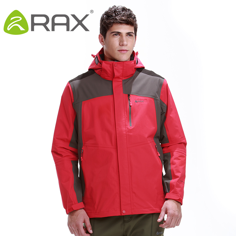 Rax Hiking Jackets Men Waterproof Windproof Warm Hiking Jackets Winter Outdoor Camping Jackets Thermal Coat 44-1A029