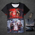 Famous Star Westbrook Paul George Stephen Curry LeBron James Carmelo Anthony 3D Print Homme Tee Shirt t shirts Camiseta Tops